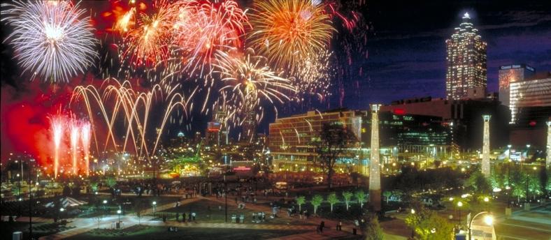 Atlanta Fireworks Centennial Olympic Park