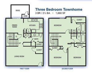 Floorplan at Aspen Pointe