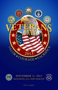 Veterans Day Poster 2013 free government issue