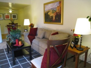 Living room at Stonetree Apartments