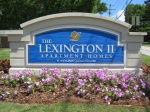 The monument sign for Lexington II Apartments